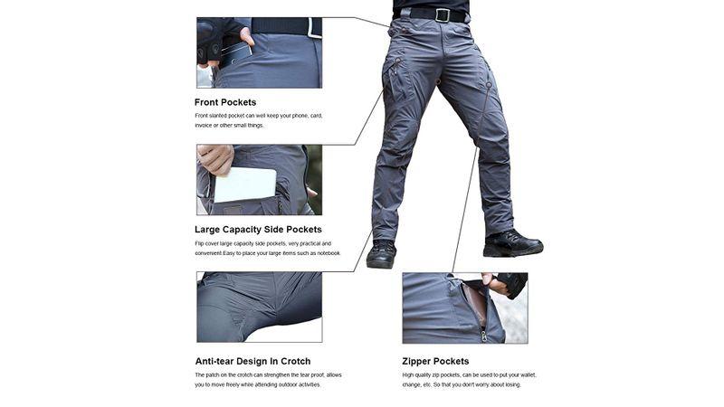 Susclude Pantalones Tacticos Militares De Secado Rapido Para Trabajo Al Aire Libre Para Hombre Pantalones Ligeros De Verano Para Senderismo Apolo